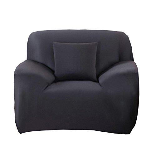 WINOMO Housse de fauteuil Canapé en Polyester Extensible Décor Salon Antipoussière Couvertures et Protecteur de Sofa (Noir)