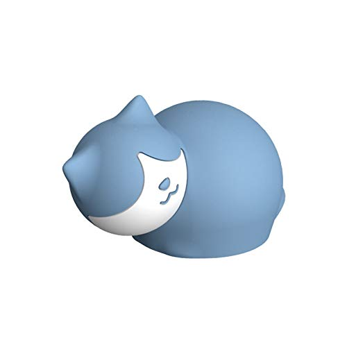 Ouyawei - scaldamani elettrico a forma di gatto, in silicone, a prova di esplosione blu, 15,5 ×10.8 ×9 cm