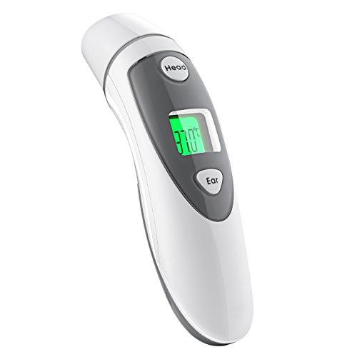 Termometro-da-FronteTermometri-da-OrecchioTermometro-InfrarossiTermometro-DigitaleTermometro-Professionale-Digitale-Clinico-Approvato-CE-FDA-Letture-Veloci-e-Accurate-Allarme-Febbre-e-Funzione-Memoria