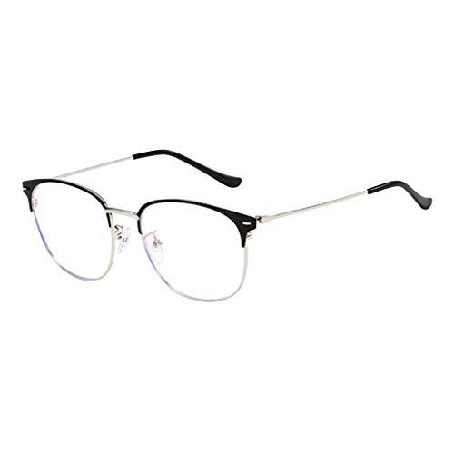 Trisee ✔ Brille Ohne SehstäRke, Klassisch Brille Ohne SehstäRke Damen Blaulichtfilter Brille Hippie Brille Runde Brille Nerd Brille Retro Sonnenbrille Herren Sonnenbrille Damen UV-Schutz