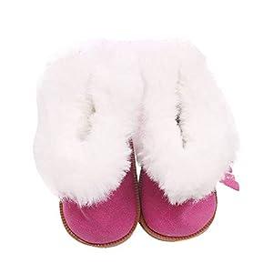 Puppenschuh, YUYOUG 1 Paar Winter Glitter Doll Schuhe Plüsch Stiefel für 18 Zoll Unsere Generation American Girl Puppe Zubehör Mädchen Spielzeug Weihnachten Geburtstagsgeschenk