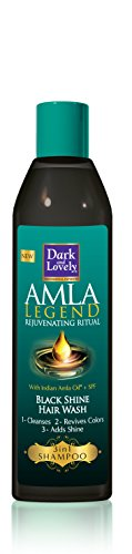 Dark & Lovely Amla Legend Black Shine Shampoo, 250 ml, 2 Stück (Indische Shampoo)