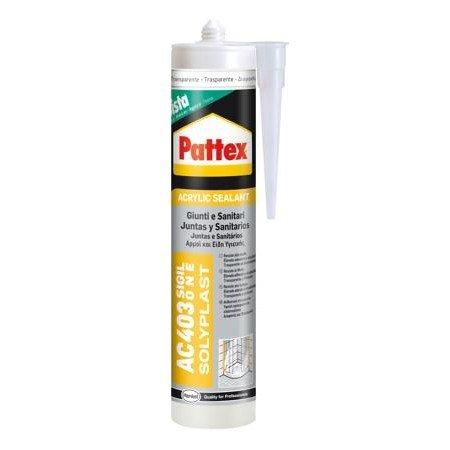 Pattex 1536074 AC 403 Sigillante One Giunti e Sanitari, 300 ml, Trasparente