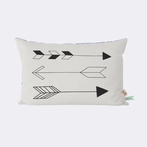 Ferm Living - Kissen Native Arrow - Biobaumwolle - 60 x 40 cm