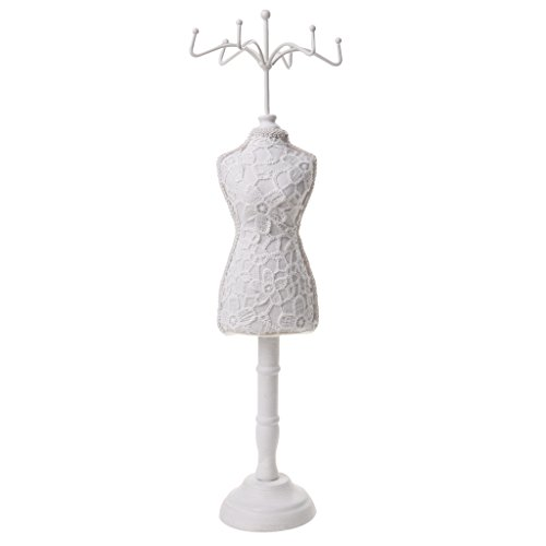 sharprepublic Elegant Cheongsam Dress Mannequin Earring Necklace Jewelry Display Stand Holder
