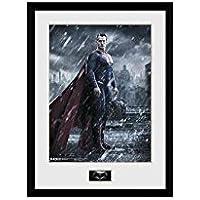 """GB eye fotografía enmarcada """"Vs Batman, diseño de Superman, diseño de Superman, multicolor, 16 x 30,5 cm"""