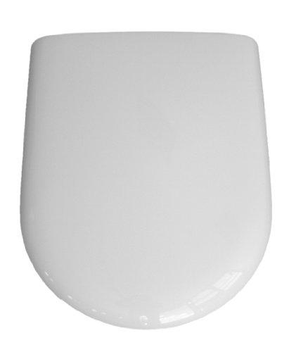 VCM WC Sitz Toilettendeckel Deckel Brille Toilettensitz Klositz Klodeckel Luna - Klobrille Klo Toilette - Weiß