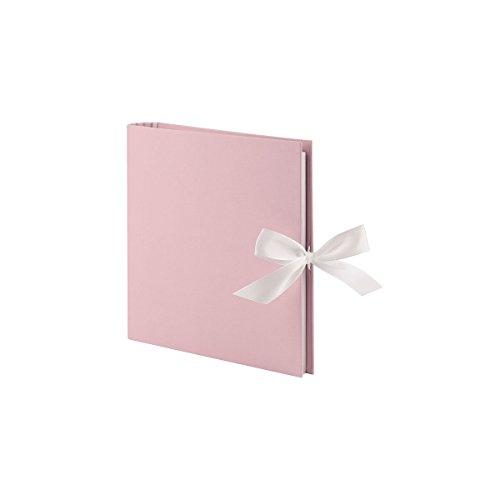 ringbuch (50 weiße Seiten, 25 Blatt, 23 x 21 cm) rosa mit Schleife (Rosa Und Weißen Verzierungen)