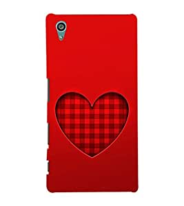 EPICCASE checked heart Mobile Back Case Cover For Sony Xperia Z5 (Designer Case)