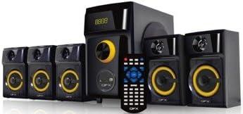 QFX QS Disco 5.1 Multimedia Speaker with USB/Bluetooth/Remote(Black)