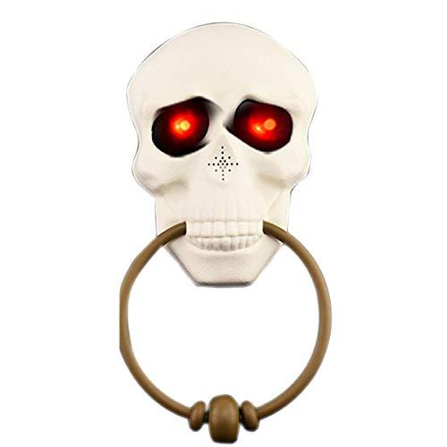 VORCOOL Halloween Klingel Totenkopf Beleuchtet Den Globus mit gruseligen Tönen für die Dekoration von Bar, Party, Spielzeug, Geschenke für Kinder (Del Mar Halloween-party)