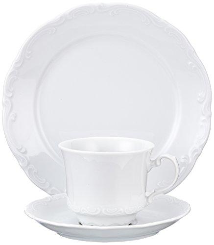 Creatable 17292 Serie San Marco Geschirrset Kaffeeservice 18 teilig, Porzellan, weiß, 32.5 x 23.5 x...