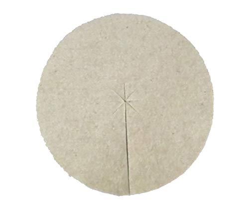Disques de paillage en laine vierge 100% pure, paquet de 10, diamètre: 50 cm, épaisseur environ 5 mm, (EUR 4,18 par pièce), couverture de compost, protection des escargots, 100% biodégradable