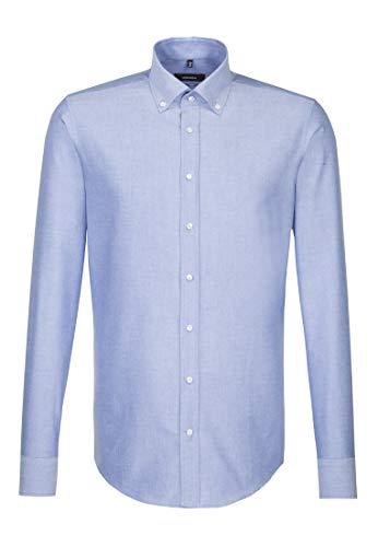 Seidensticker Herren Business Hemd Tailored Langarm Button-Down-Kragen Bügelleicht