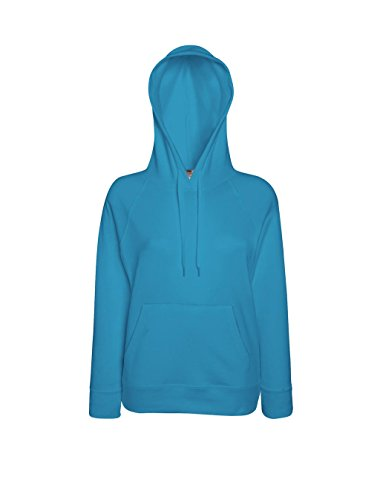 Fruit of the Loom Damen Kapuzenpullover Lightweight Hooded Sweat Lady-Fit Azure Blue