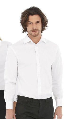 B&C - Popelin Hemd mit Elasthan-Anteil LA Luxurious Red