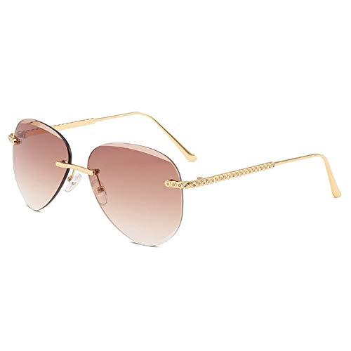 ZYFCC Mode Fahren polarisierten Sonnenbrillen, Frauen Metall rahmenlose Sonnenbrille, polarisierte Brillen Sportbrillen Angeln Golfbrille, Ski/Radfahren/Sport Sonnenbrillen. (Color : #4)