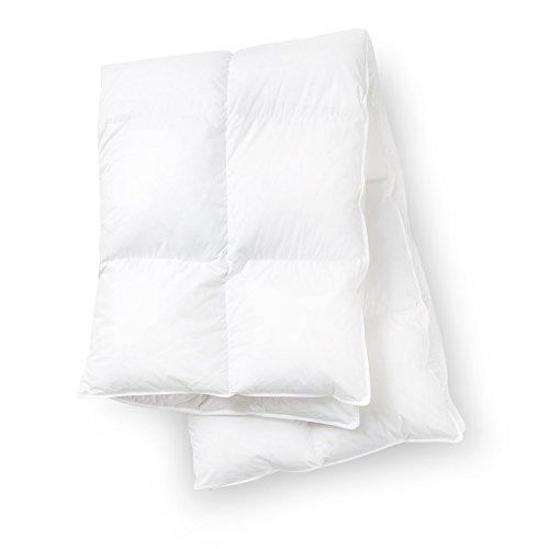 Luxus Winter Daunendecke 155 x 220 cm lange Decke in Übergröße - kuschelig weiche hypoallergene warme Bettdecke aus weißen Daunen und Federn gesteppt für Doppelbett für Erwachsene Paare
