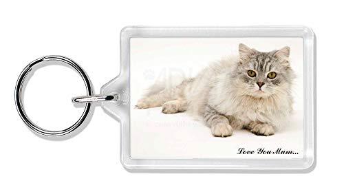 Advanta - Keyrings Chinchilla Perserkatze 'Love You Mum' Foto Schlüsselbund TierstrumpffüllerGesche -