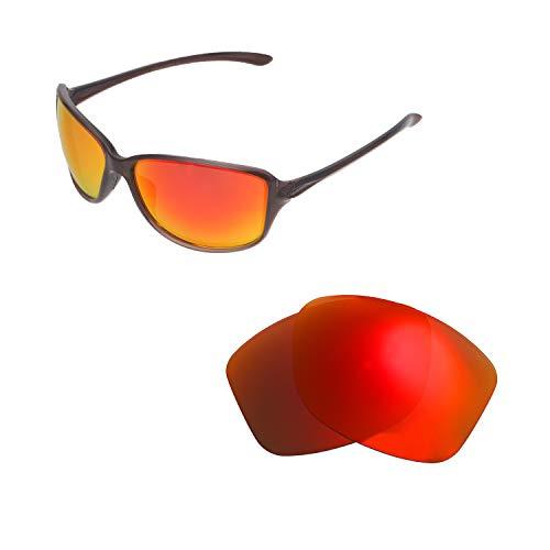 Walleva Ersatzgläser für Oakley Cohort Sonnenbrille - Verschiedene Optionen erhältlich, Unisex-Erwachsene, Fire Red Mirror Coated - Polarized, Einheitsgröße