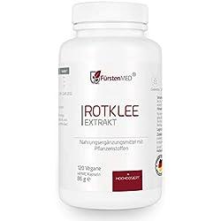 FürstenMED® Rotklee Kapseln (Isoflavone) mit Hopfen - Vegan & ohne Zusätze aus Deutschland Menopause, PMS, Brustvergrößerung