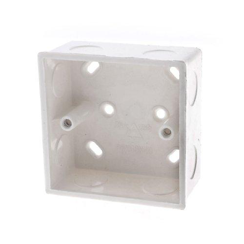 PVC Shell Flush Typ Wand montiert Single Gang Junction Box Elfenbeinfarben Gang Junction Box