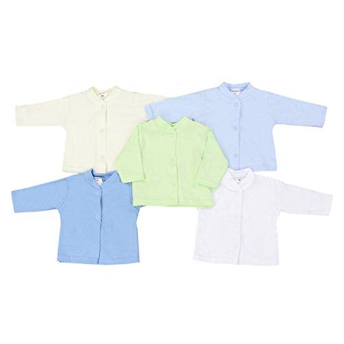 TupTam Unisex Babyjäckchen aus Baumwolle 5er Set, Farbe: Junge, Größe: 74