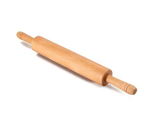 Bycdd professionale mattarelli per cottura, legno classico, rullo solido, per soddisfare le esigenze di cottura, pane, pasta sfoglia, pasta per pizza e altro,long 40cm