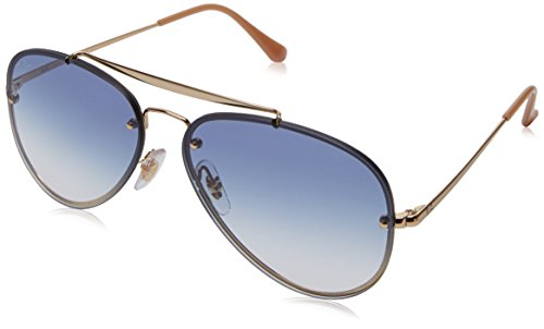 RAYBAN JUNIOR Unisex-Erwachsene Sonnenbrille Blaze Aviator, Gold/Cleargradientlightblue, 58