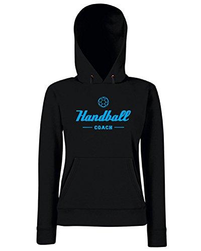 T-Shirtshock - Sweats a capuche Femme SP0068 Handball Coach Maglietta Noir