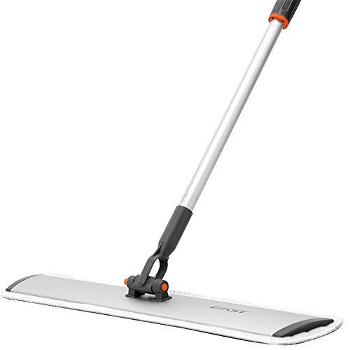Kitrack Flacher Boden-Mopp Microfiber 60cm Aluminiumlegierungs-Stange 360 ° Rotation Nass Und Trocken FüR Haus