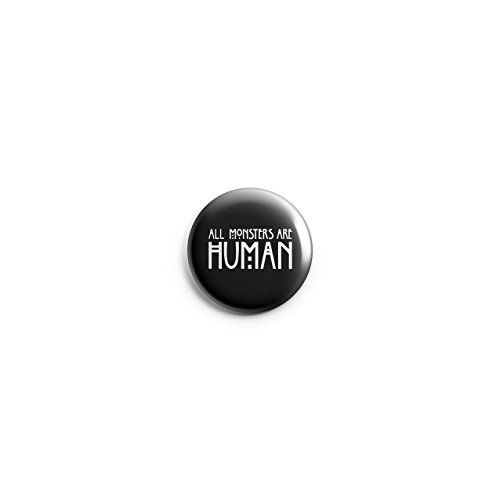 Promofix Alle Monster sind Echthaar Horror Halloween EMO Button Pin Badge 38 mm