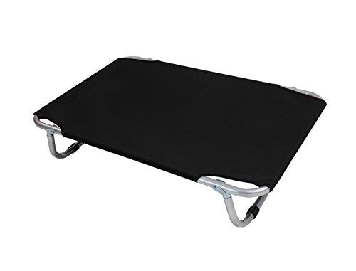 VADIGRAN Cama Aluminio Perro Negro 80x 50cm
