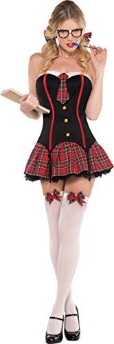 Amscan International Erwachsene nerdigen und Flirty Kostüm (UK 8-10) Flirty Rock