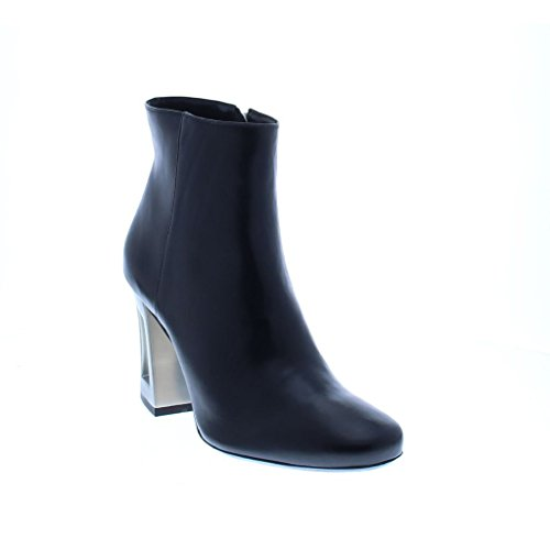 Bronx Black Leather Ankleboot High Heel Schwarz