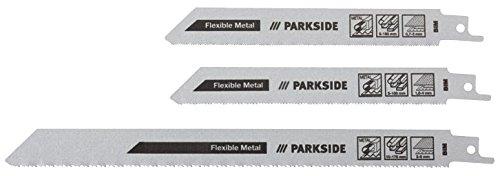 """PARKSIDE® 3 Säbelsägeblätter PFSZ 3 A1 (Set \""""Metall fein\"""", geeignet für Bleche, Rohre und Profile)"""
