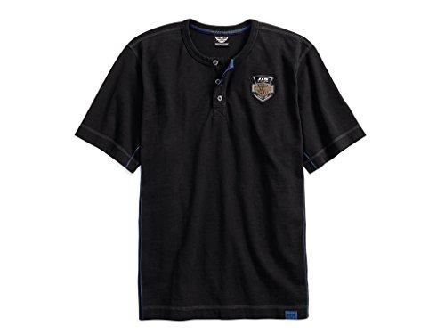 HARLEY-DAVIDSON 115th Anniversary Henley Tee T-Shirt, 99014-18VM, 3XL - Henley Tee