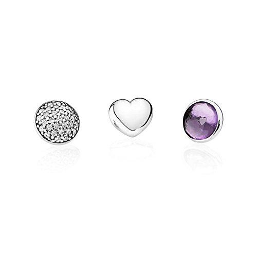 Pandora–parure di gioielli in argento 925con zirconi viola–792091sam