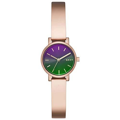 DKNY Reloj Analógico para Mujer de Cuarzo con Correa en Acero Inoxidable NY2734