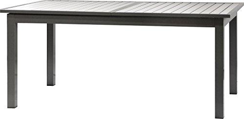 IB-Style - Premium Ausziehtisch President | Polywood Silber/SCHWARZ | 174/238 X 100 cm | Gartentisch Gartenset Gartenmöbel