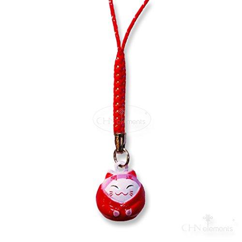 pch16-mobile Telefon Fall Charm/Schlüsselanhänger mit Feng Shui Lucky Cat (tragen Kimono) on-good Luck (Element-mobile Handy-fall)