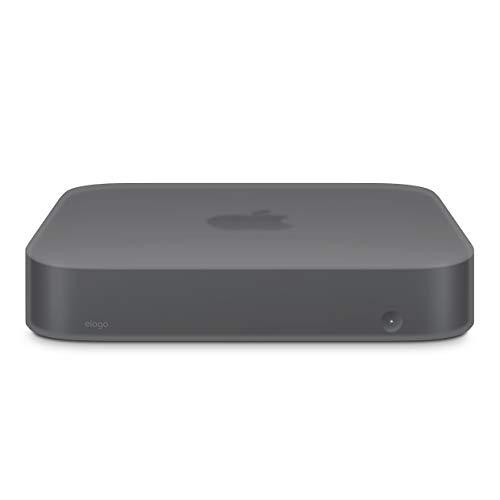 elago Mac Mini Silikonhülle Kompatibel mit Apple Mac Mini 2018 [Stoßfest] [Langlebig] [Ausschnitt Design] (Dunkelgrau transluzent)