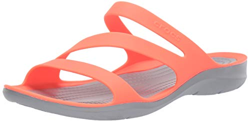 crocs Damen Swiftwater Sandalen, Orange (Bright Coral/Light Grey 6pk), 38/39 EU