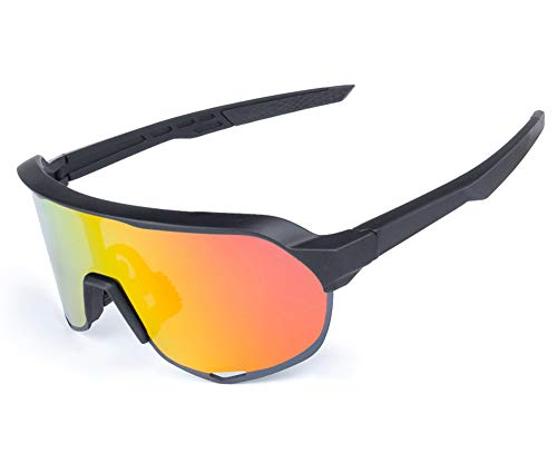 TFGY Sportbrille FüR Herren Und Damen, Radsportbrille Winddichte Polarisierte Brille FüR Den AußEnbereich,Fahren Angeln SchießEn Jagd Skifahren Outdoor Sports Brillen,B