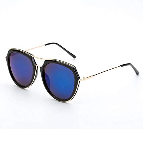 GAOHAITAO Women/Men Sunglasses Designer Sun Glasses Metal Ladies Shades,Blue