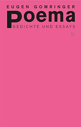Buchseite und Rezensionen zu 'poema: Gedichte und Essays' von Eugen Gomringer