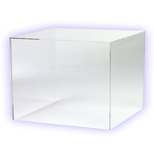 HOKU Holzhäuser Kunststofftechnik  Acrylwürfel in. Grösse : 25cm x 25cm x 25cm Box, Acryl/Plexiglas, 5 transparente Seiten, klar (25 x 25 x 25cm) (Acryl-box)
