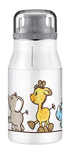 alfi 5357.122.040 Trinkflasche elementBottle, Edelstahl Safari Park 0,4 l, Spülmaschinenfest, BPA-Free