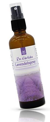 Dr. Ehrlichs Lavendelspray 75ml - Raumduft mit natürlichen ätherischen Ölen des echten Lavendels - Raumspray & Kissenspray zur Entspannung und Aromatherapie zum Einschlafen mit Lavendelöl