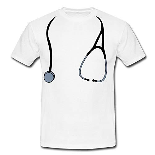 Spreadshirt Arzt Kostüm Männer T-Shirt, 4XL, Weiß